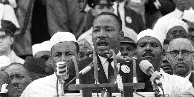 "In this Aug. 28, 1963 photo, The Rev. Dr. Martin Luther King Jr., head of the Southern Christian Leadership Conference, gestures during his ""I Have a Dream"" speech as he addresses thousands of civil rights supporters gathered in Washington, D.C. onths before the Rev. Martin Luther King Jr. delivered his famous ""I Have a Dream"" speech to hundreds of thousands of people gathered in Washington in 1963, he fine-tuned his civil rights message before a much smaller audience in North Carolina. Reporters had covered King's 55-minute speech at a high school gymnasium in Rocky Mount on Nov. 27, 1962, but a recording wasn't known to exist until English professor Jason Miller found an aging reel-to-reel tape in the town's public library. (AP Photo)"
