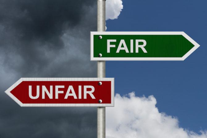bigstock-Fair-Versus-Unfair-69403969