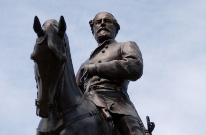 The Gen. Robert E. Lee Monument is located on Monument Avenue in Richmond, Virginia. The large equestrian statue, which depicts the Confederate commander on his horse, Traveller, was created by French sculptor Jean Antonin Merci+?, and unveiled on May 29, 1890.  (Photo by Chuck Myers/MCT/MCT via Getty Images)