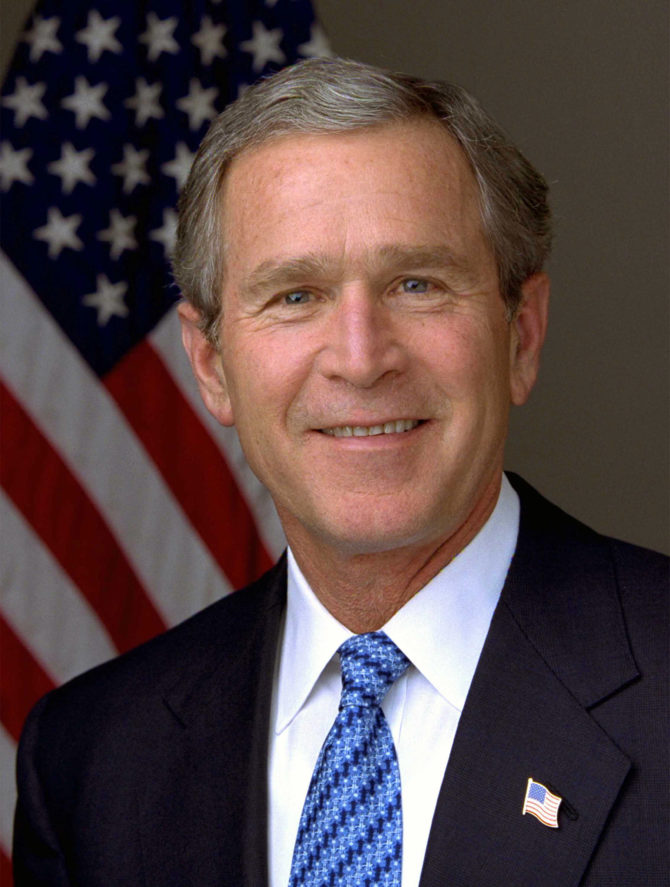 030114-O-0000D-001 President George W. Bush.  Photo by Eric Draper, White House.